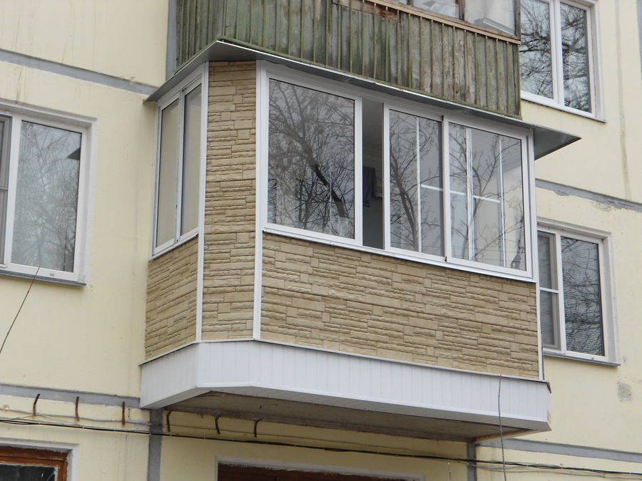 Внешняя отделка балконов в москве без остекления.